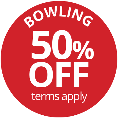 Play at Pins Bowling Offer Badge